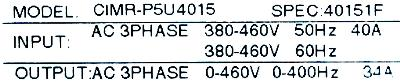 New Refurbished Exchange Repair  Yaskawa Inverter-General Purpose CIMR-P5U4015 Precision Zone