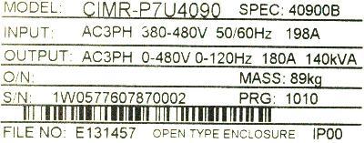 New Refurbished Exchange Repair  Yaskawa Inverter-General Purpose CIMR-P7U4090 Precision Zone