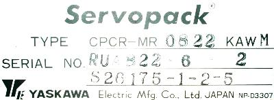 New Refurbished Exchange Repair  Yaskawa Drives-DC Servo CPCR-MR0822KAWM Precision Zone