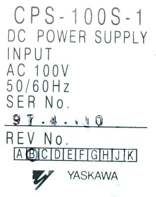 New Refurbished Exchange Repair  Yaskawa Part of machine CPS-100S-1 Precision Zone