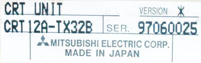 New Refurbished Exchange Repair  Mitsubishi CRT CRT12A-TX32B Precision Zone
