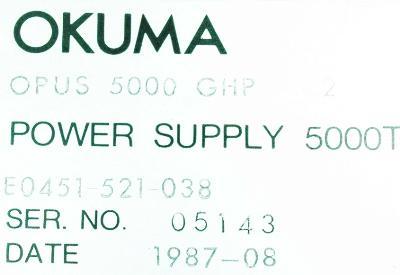 New Refurbished Exchange Repair  Okuma Part of machine E0451-521-038 Precision Zone