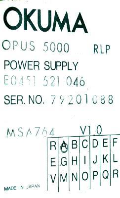 New Refurbished Exchange Repair  Okuma Part of machine E0451-521-046 Precision Zone