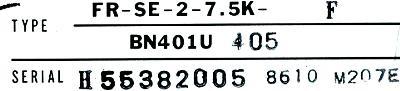 New Refurbished Exchange Repair  Mitsubishi Drives-AC Spindle FR-SE-2-7.5K-F Precision Zone