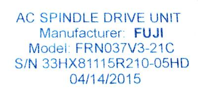 New Refurbished Exchange Repair  Fuji Drives-AC Spindle FRN037V3-21C Precision Zone