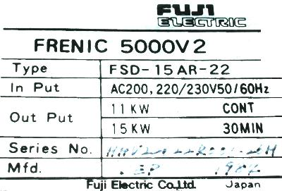 New Refurbished Exchange Repair  Fuji Drives-AC Spindle FSD-15AR-22 Precision Zone