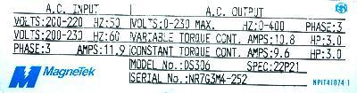 New Refurbished Exchange Repair  Magnetek Inverter-General Purpose GPD503-DS306 Precision Zone