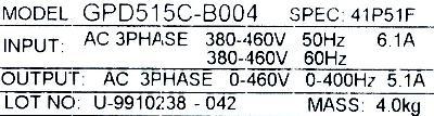 New Refurbished Exchange Repair  Magnetek Inverter-General Purpose GPD515C-B004 Precision Zone