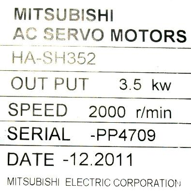New Refurbished Exchange Repair  Mitsubishi Motors-AC Servo HA-SH352 Precision Zone