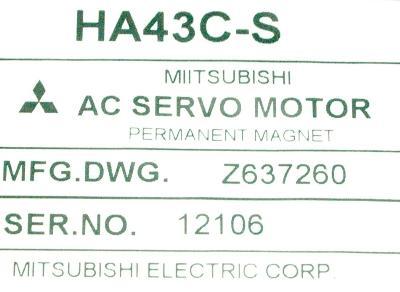 New Refurbished Exchange Repair  Mitsubishi Motors-AC Servo HA43C-S Precision Zone