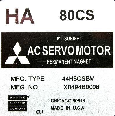 New Refurbished Exchange Repair  Mitsubishi Motors-AC Servo HA80CS Precision Zone