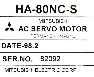 New Refurbished Exchange Repair  Mitsubishi Motors-AC Servo HA80NC-S Precision Zone