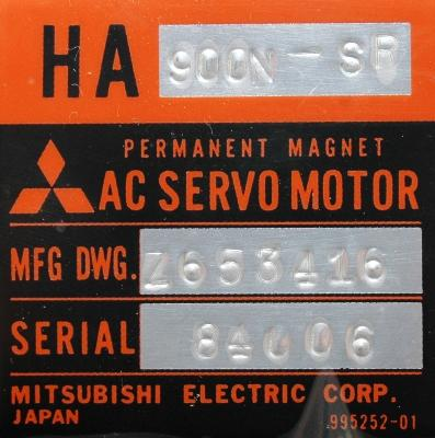 New Refurbished Exchange Repair  Mitsubishi Motors-AC Servo HA900N-SR Precision Zone