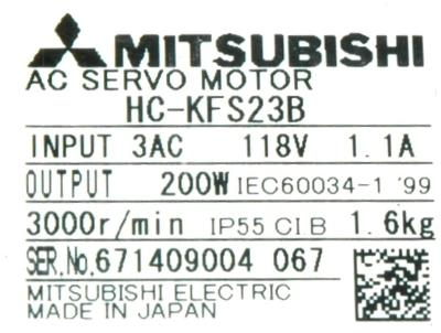 New Refurbished Exchange Repair  Mitsubishi Motors-AC Servo HC-KFS23B Precision Zone