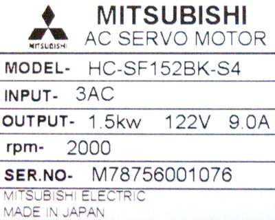 New Refurbished Exchange Repair  Mitsubishi Motors-AC Servo HC-SF152BK-S4 Precision Zone