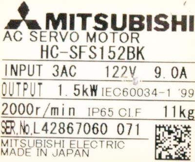 New Refurbished Exchange Repair  Mitsubishi Motors-AC Servo HC-SFS152BK Precision Zone