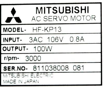 New Refurbished Exchange Repair  Mitsubishi Motors-AC Servo HF-KP13 Precision Zone