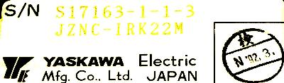 New Refurbished Exchange Repair  Yaskawa CNC Boards JZNC-IRK22M Precision Zone