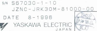 New Refurbished Exchange Repair  Yaskawa CNC Boards JZNC-JRK30M-81000-00 Precision Zone