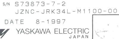 New Refurbished Exchange Repair  Yaskawa CNC Boards JZNC-JRK34L-M1100-00 Precision Zone