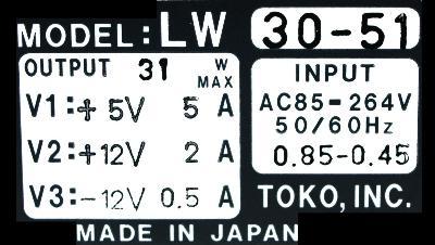 New Refurbished Exchange Repair  Toko Inc Part of machine LW30-51 Precision Zone
