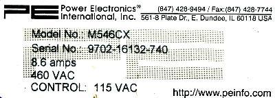 New Refurbished Exchange Repair  Power Electronics Inverter-Crane M546CX Precision Zone