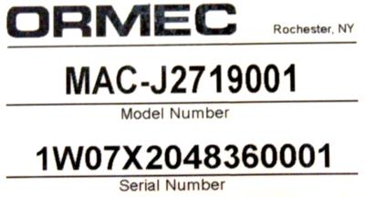 New Refurbished Exchange Repair  Ormec Motors-AC Servo MAC-J2719001 Precision Zone