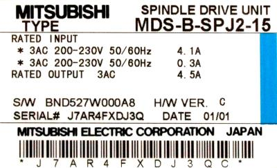 New Refurbished Exchange Repair  Mitsubishi Drives-AC Spindle MDS-B-SPJ2-15 Precision Zone