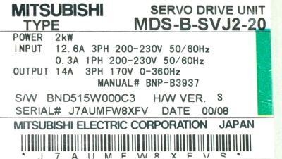 New Refurbished Exchange Repair  Mitsubishi Drives-AC Servo MDS-B-SVJ2-20 Precision Zone