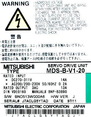 New Refurbished Exchange Repair  Mitsubishi Drives-AC Servo MDS-B-V1-20 Precision Zone
