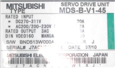 New Refurbished Exchange Repair  Mitsubishi Drives-AC Servo MDS-B-V1-45 Precision Zone