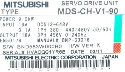 New Refurbished Exchange Repair  Mitsubishi Drives-AC Servo MDS-CH-V1-90 Precision Zone
