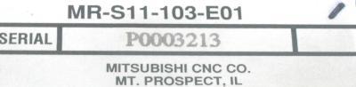 New Refurbished Exchange Repair  Mitsubishi Drives-AC Servo MR-S11-103-E01 Precision Zone