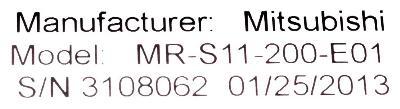 New Refurbished Exchange Repair  Mitsubishi Drives-AC Servo MR-S11-200-E01 Precision Zone
