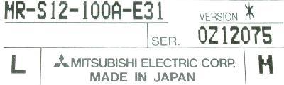 New Refurbished Exchange Repair  Mitsubishi Drives-AC Servo MR-S12-100A-E31 Precision Zone