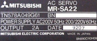 New Refurbished Exchange Repair  Mitsubishi Drives-AC Servo MR-SA22 Precision Zone