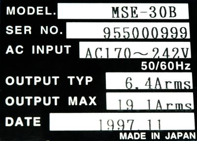 New Refurbished Exchange Repair  Horyu Drives-AC Servo MSE-30B Precision Zone
