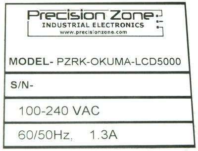 New Refurbished Exchange Repair  Precision Zone Retrofit PZRK-OKUMA-LCD5000 Precision Zone