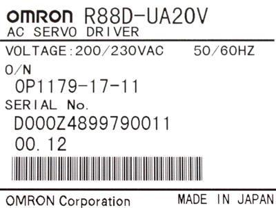 New Refurbished Exchange Repair  Omron Drives-AC Servo R88D-UA20V Precision Zone