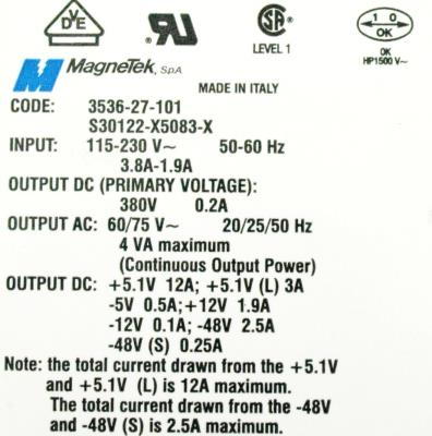 New Refurbished Exchange Repair  Magnetek Part of machine S30122-X5083-X Precision Zone