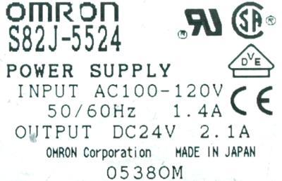 New Refurbished Exchange Repair  Omron Part of machine S82J-5524 Precision Zone