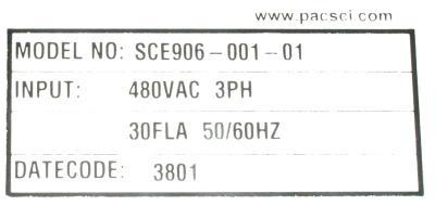 New Refurbished Exchange Repair  Pacific Scientific Drives-AC Servo SCE906-001-01 Precision Zone