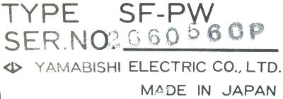 New Refurbished Exchange Repair  Yamabishi Electric Part of product SF-PW Precision Zone