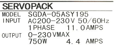 New Refurbished Exchange Repair  Yaskawa Drives-AC Servo SGDA-05AS-Y195 Precision Zone