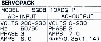 New Refurbished Exchange Repair  Yaskawa Drives-AC Servo SGDB-10ADG-P Precision Zone