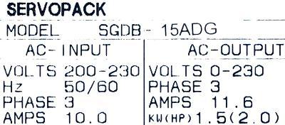 New Refurbished Exchange Repair  Yaskawa Drives-AC Servo SGDB-15ADG Precision Zone