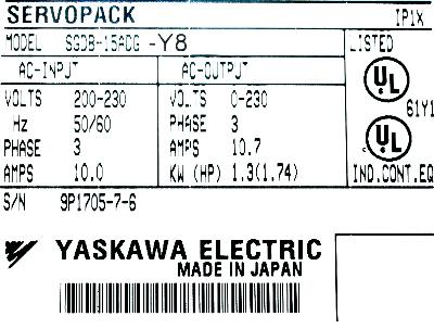 New Refurbished Exchange Repair  Yaskawa Drives-AC Servo SGDB-15ADG-Y8 Precision Zone