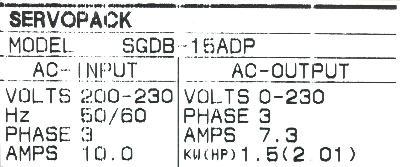 New Refurbished Exchange Repair  Yaskawa Drives-AC Servo SGDB-15ADP Precision Zone