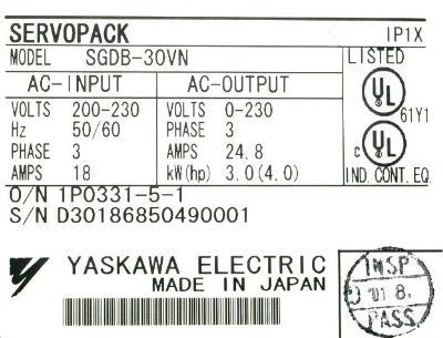 New Refurbished Exchange Repair  Yaskawa Drives-AC Servo SGDB-30VN Precision Zone