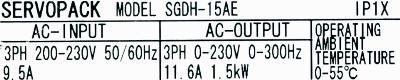 New Refurbished Exchange Repair  Yaskawa Drives-AC Servo SGDH-15AE Precision Zone
